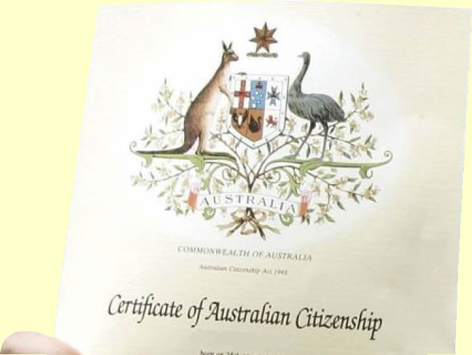 slider picture to show Australian citizenship certificate