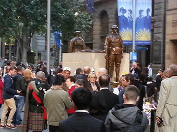 Exclusive photo for 100th centenary anniversary ANZAC Centopath, Sydney, Martin place